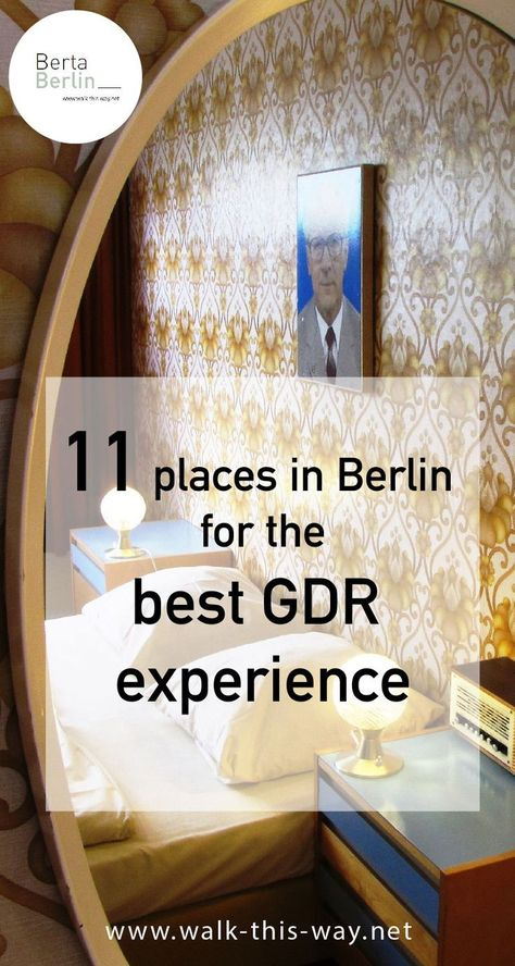 11 places in Berlin for the best GDR experience  In Berlin the GDR can be experienced in many places. Since GDR history has its very own charm, I have written a travel guide on the traces of the GDR in cooperation with the DDR Museum Berlin.Take a seat in the Trabi ride on Karl-Marx-Allee (formerly Statinallee),climb up the ladder of the GDR watchtower or simply enjoy a currywurst at Konnopke.  #Berlin #Europe #travel #europetravel #germany