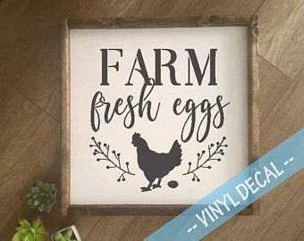 Farmhouse Vinyl Decal Farm Fresh Eggs Decal Farm Fresh Sign Farmhouse Kitchen Decal Farm Fresh Sign Viny Vinyl Decals Farm Fresh Eggs Farm Fresh Eggs Sign