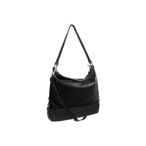 Women's ILI 6092-2 - Black Hobo Handbags (£43) ❤ liked on Polyvore featuring bags, handbags, shoulder bags, black, ili, hobo shoulder handbags, black hobo shoulder bag, black handbags and ili handbags