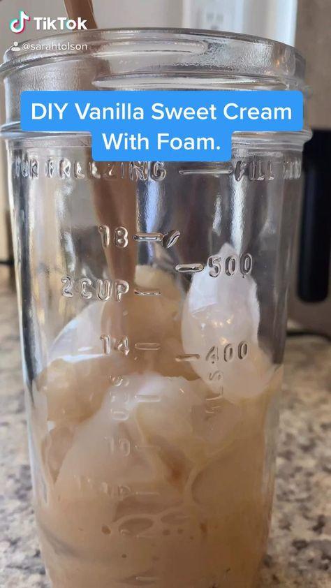 DIY Vanilla Sweet Cream Cold Foam
