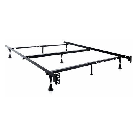 Structures Universal T F Q K Adjustable Metal Bed Frame With Center Support Metal Bed Frame Adjustable Bed Frame Metal Beds