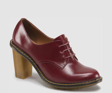 Dr. Martens Women`s Shoe Jinelle black buttero Oxford heels