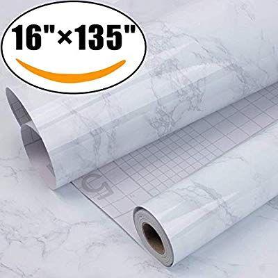 Aroic Marble Self Adhesive Paper 16 X 135 Granite Gray White Roll Kitchen Countertop Cabinet Furnitu Adhesive Paper Cabinet Furniture Countertop Backsplash