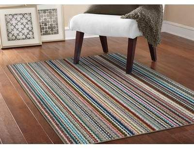 Millwood Pines Kandace Striped Tufted Blue Gray Area Rug Wayfair Garland Rug Area Rugs Indoor Area Rugs