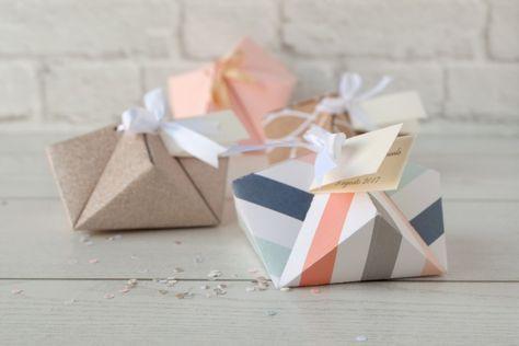 Bomboniere Matrimonio Origami.Diy Box Origami Portaconfetti Per Un Matrimonio Dallo Stile