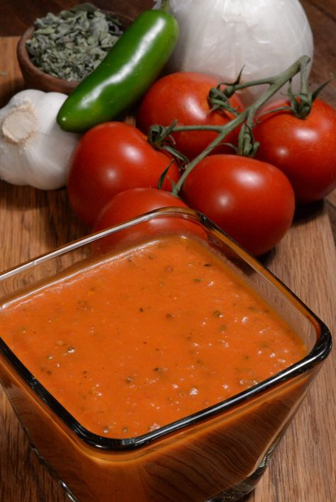 El Salvador salsa roja or red sauce is found on nearly every table in the country. El Salvador salsa roja or red sauce is found on nearly every table in the country. It is not spicy but full of flavor, you will love it! Mexican Dishes, Mexican Food Recipes, Spanish Recipes, Sauce Recipes, Cooking Recipes, El Salvador Food, Salvadoran Food, Recetas Salvadorenas, Sauces
