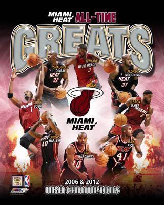 Miami Heat All Time Greats 8 Legends 2 Nba Championships Premium Poster Print Nba Miami Heat Miami Heat Lebron James Miami Heat