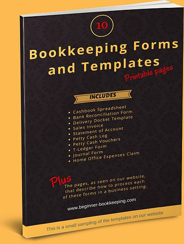 Free Bookkeeping Forms And Templates For Small Business Needs