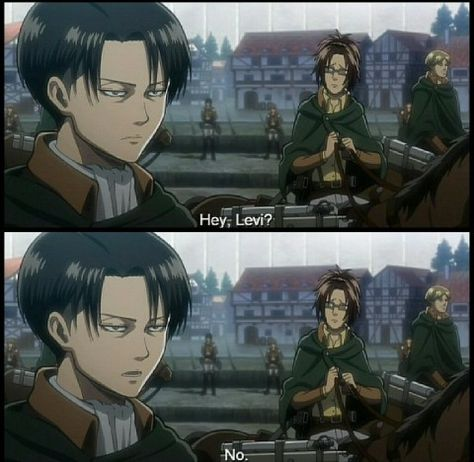 Haha, oh wow Levi.                                    Levi & Hanji (Hange) Zoe - Attack on Titan