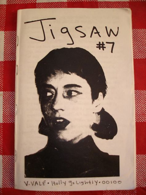 Jigsaw zine, by Toby Vail, 1988, Olympia, Washington: the origins of the Riot Grrrl movement.