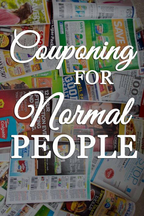 How to Coupon for Normal People. Fast and Easy couponing.