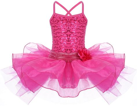 Kid Girls Ice Skating Dress Long Sleeves Ballet Dance Leotard Tutu Skirt Costume