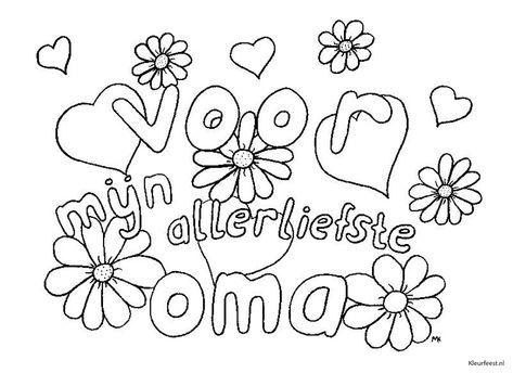 Kleurplaten Love You Oma.Coloring For Adults Kleuren Voor Volwassenen Oma