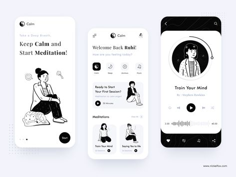 Calm App Design - Keep Calm