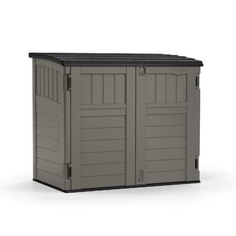 Vanilla Outdoor 4 Ft 10 In W X 6 Ft 8 In D Plastic Horizontal Tool Shed Garbage Shed Resin Storage Metal Storage Sheds