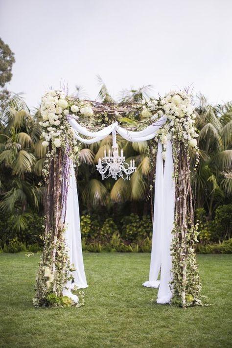 vintage wedding arch decor
