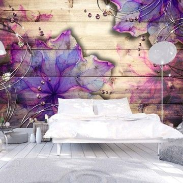Fototapeta 3d Na Sciane Fioletowy Kwiat 400x280 7091021290 Oficjalne Archiwum Allegro 3d Wallpaper Mural 3d Wallpaper Girl Mural Wallpaper