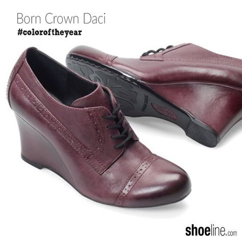 a trendy heeled #oxford in #marsala #coloroftheyear #shoes #PromotionCodesFor
