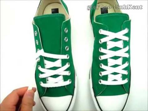 d93a4e06f64 How to tie your shoelace converse - YouTube