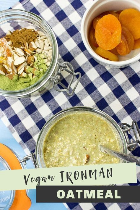 This power breakfast inspired by IRONMAN champion Patrick Lange is the perfect vegan way to smash your health targets!  #Oatmeal #HealthyBreakfast #Vegan #HealthyRecipes