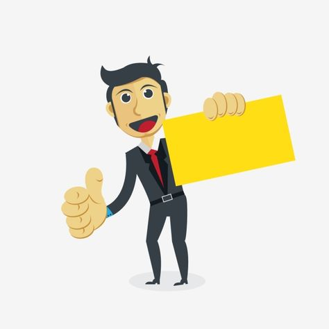 Businessman Cartoon Character Job Clipart Concepts Business Png And Vector With Transparent Background For Free Download Kartun Png Gambar
