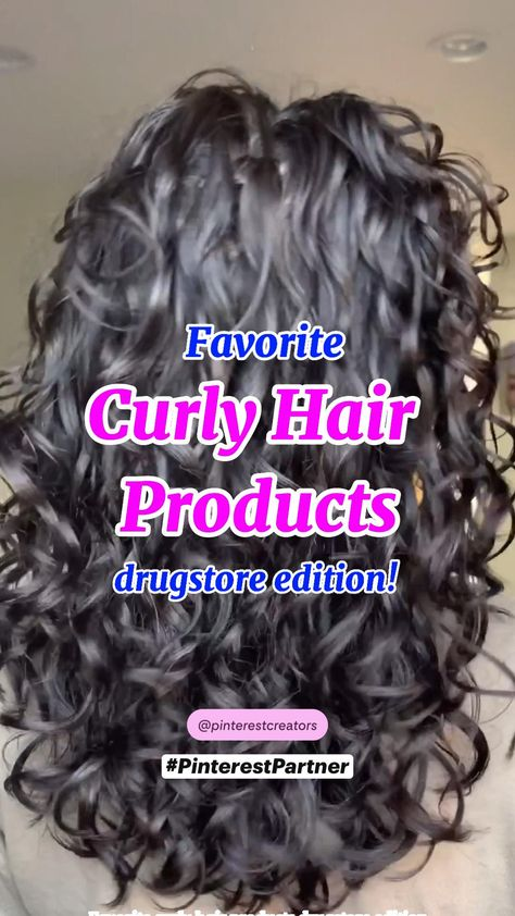 Favorite Curly Hair Products at the Drugstore (Affordable) #PinterestPartner #FollowMeOnPinterest