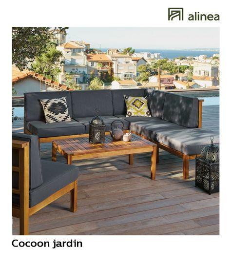 alinea : cocoon jardin salon de jardin en acacia massif (4 places ...