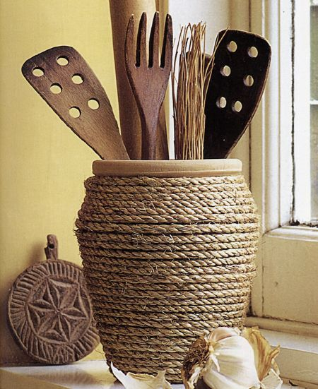 Idee Per La Cucina Fai Da Te.Portautensili Fai Da Te Per La Cucina Ecco 15 Idee Per Ispirarvi Utensils Holder Diy Easy Home Decor Diy Home Crafts