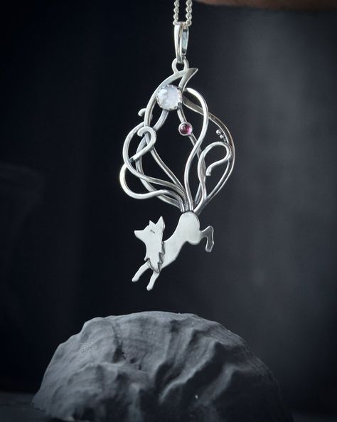 18-Inch Rhodium Plated Necklace with 4mm Rose Birthstone Beads and Sterling Silver Saint Raphael the Archangel Charm.