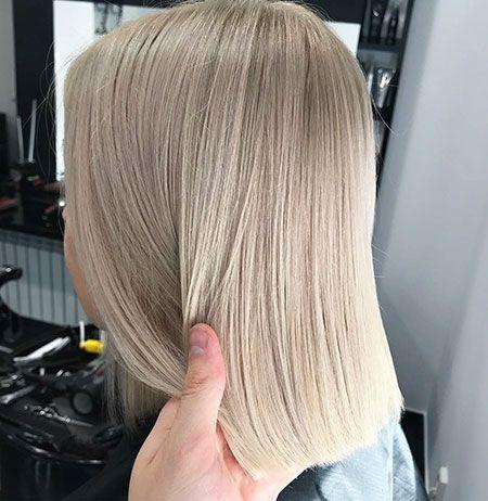 Blonde glatte haare schulterlange 15+ Blonde