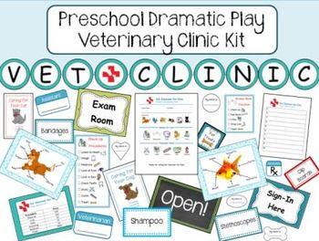 Preschool Dramatic Play Vet Clinic Kit Dramatic Play Preschool