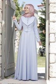 Rana Zen Endam Elbise Pudra Elbise The Dress Maksi Elbiseler