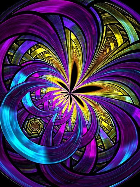 Persistent Aura Fractal Design Flower created with fraktal editors design flower, abstract,floral,gfrden bed
