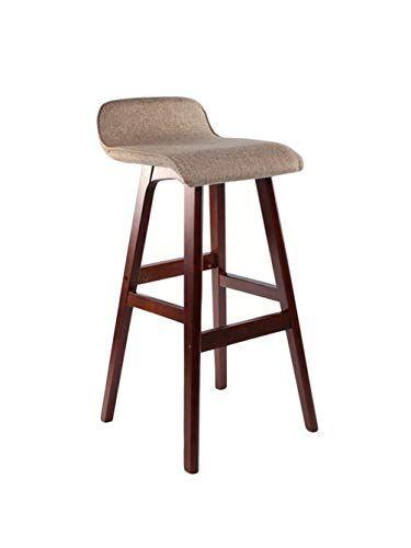 Barstoolri Bar Stool With Backrest Solid Wood Frame Non Slip