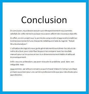 Exemple de conclusion de rapport de stage 3e