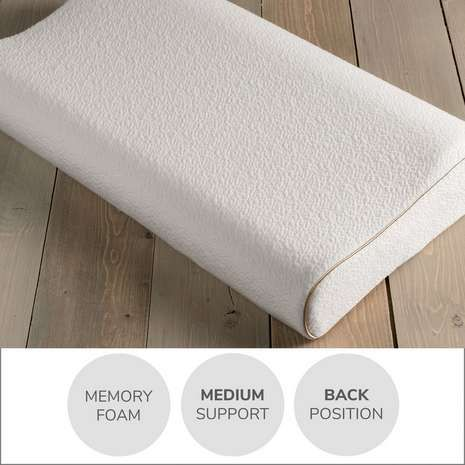 Dunelm memory foam contour pillow in