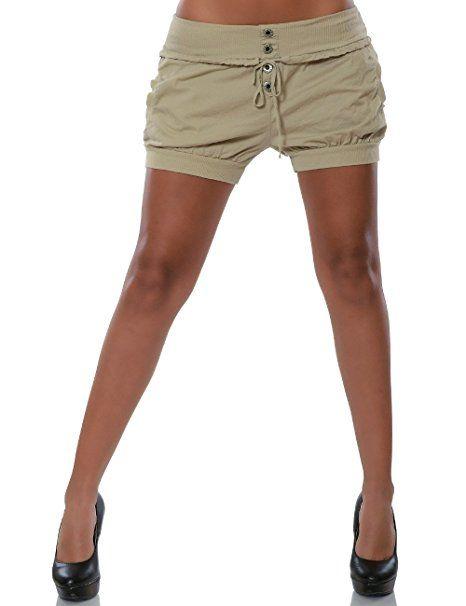 Damen Shorts Chino Hot Pants Kurze Sommer Hose Luftige