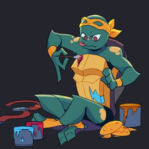 Teenage Ninja Turtles, Ninja Turtles Art, Ninja Turtle Pumpkin, Mikey, Fan Art, Cartoon Shows, Fire Emblem, Cute Art, Character Design