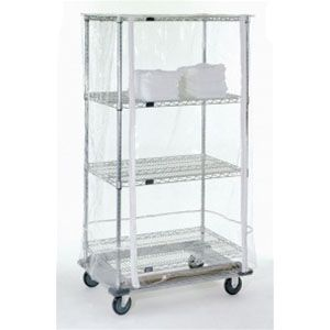 10 Gauge Clear Wire Shelf Cart Cover With Zipper Shelving Wire Shelving Covering Wire Shelves
