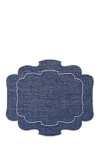 We Adore The Parentesi Coated Linen Placemat From La Gallina Matta At Barneys New York Placemats Linen Placemats Table Accessories