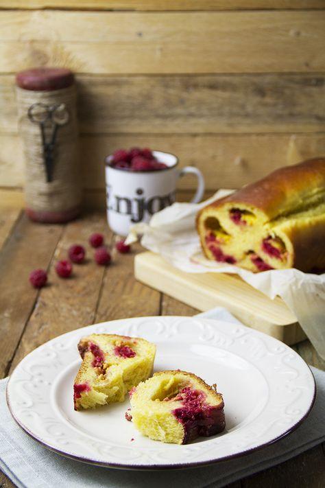 Pan Brioche con lamponi e crema pasticcera