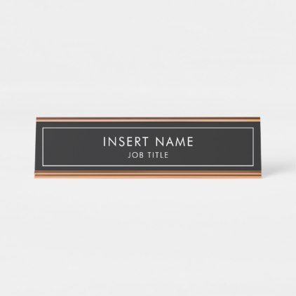 Modern Professional Desk Name Plate Zazzle Com Desk Name Plates Professional Desks Name Plate