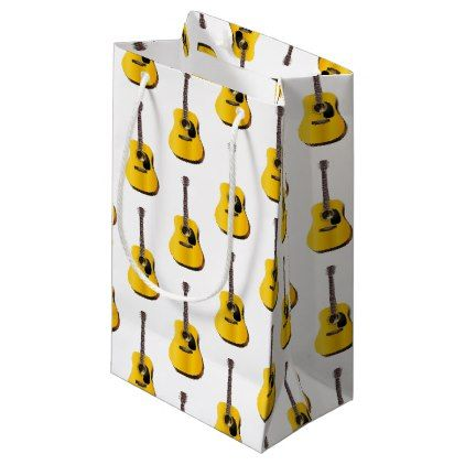 Acoustic Guitar Small Gift Bag Classic Gifts Gift Ideas Diy Custom Unique Small Gift Bags Guitar Gifts Classic Gifts
