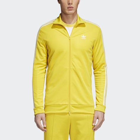 BB Track Jacket Yellow S Mens | Yellow adidas, Track jackets