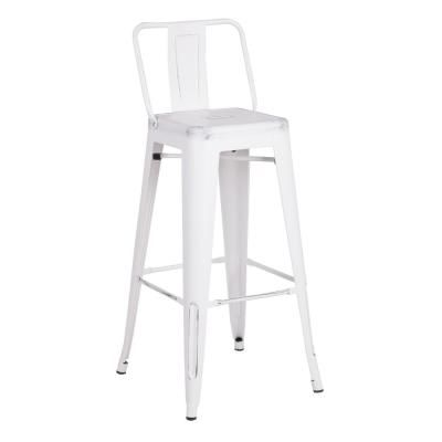 Ac Pacific Modern 30 In Distressed White Rustic Metal Barstool With Bucket Back Set Of 2 Acbs02 30 Smw In 2020 Bar Stools Metal Bar Stools 24 Bar Stools