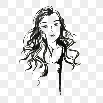 Black And White Line Draft Beauty Fashion Girl Fashion Icon Fashion Icons Line Icons Girl Icons Png Transparent Clipart Image And Psd File For Free Download Black And White Lines Black