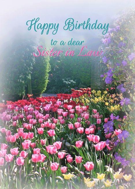 Happy Birthday Sister In Law Tulip Garden Birthday For Sister In