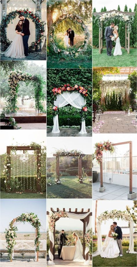 Outdoor Wedding Reception Ideas Outside Wedding Cute Simple Wedding Ideas Wedding Ceremony Arch Wedding Arch Summer Wedding Decorations