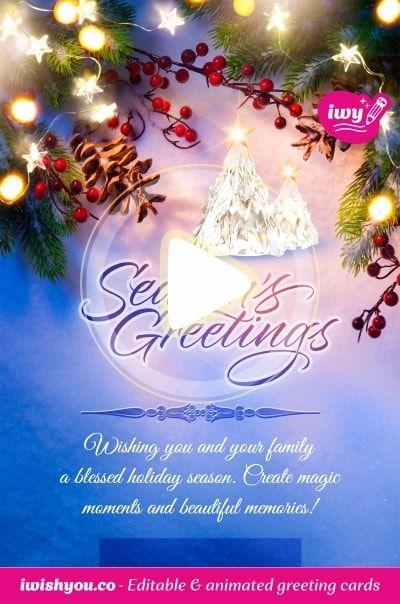 Blue Merry Christmas Card 2020 2021 For Mom Girlfriend Boyfriend Beautiful Christmas Cards Merry Christmas Card Merry Christmas Card Greetings