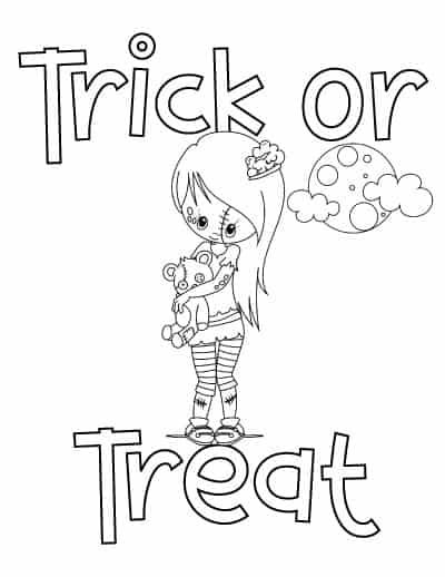 25 Free Printable Halloween Coloring Pages Halloween Coloring Pages Cute Halloween Coloring Pages Coloring Pages For Girls